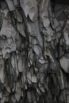 Fifty Shades of Gris - Rock Formations - natural rough textures with earthy grey tones; Don't wanna get caught under those. Patterns In Nature, Textures Patterns, Color Patterns, Organic Patterns, Fabric Textures, Natural Forms, Natural Texture, Natural Structures, 3d Texture