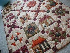 ALOUETTE - Alenka a její ručně prošitý sampler quilt.