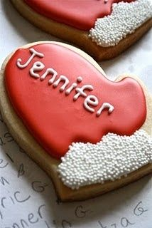 Mitten Christmas Sugar Cookies...personalized...make one for Santa's cookie plate,