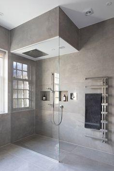 House on the Hill - Bathroom, Walkin Shower Bathroom Shower Doors, Master Bath Shower, Shower Tub, Small Bathroom, Basement Bathroom, Dream Bathrooms, Bathroom Storage, Master Bathroom, Bathroom Ideas