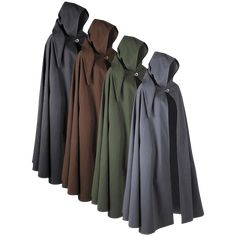 A staple in any medieval wardrobe, the Gora Canvas Cloak is an excellent option when it comes to choosing lightweight outerwear. Made of sturdy 100 percent cotton canvas, this cloak features a roomy hood with an oversized tail. Medieval Cloak, Medieval Costume, Medieval Swords, Renaissance Costume, Folk Costume, Renaissance Clothing, Renaissance Fair, Viking Clothing, Dark Knight Armory
