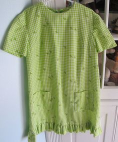 Gingham and Daisy Dress 4T5T by lishyloo on Etsy, $10.00