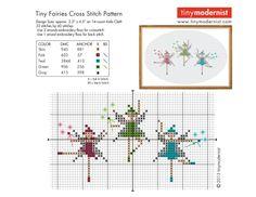 kleine feen - http://tinymodernist.wordpress.com/free-downloads/ viele schöne stickcharts