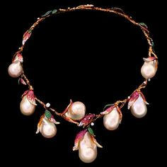"""thegryphonsnest: """"Magnolia Necklace by Jewellery Theatre! """""""