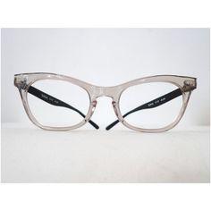 2a8ba934f14 Larger NOS Vintage Cat Eye Frames  Clear Smoke and Black Aluminum    Translucent Grey Eyeglasses