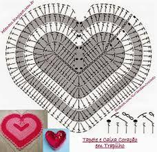 Resultado de imagem para sousplat de crochê de coração pap