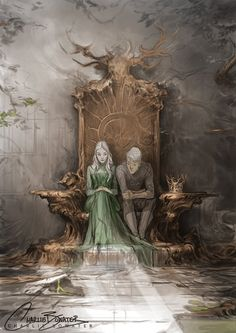 Throne of Glass - Aelin and Rowan - Sarah J. but the stag throne got destroyed Throne Of Glass Fanart, Throne Of Glass Books, Throne Of Glass Series, Throne Of Glass Characters, Character Inspiration, Character Art, Rowan And Aelin, Aelin Galathynius, Empire Of Storms