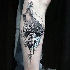 coolTop Geometric Tattoo - 100 Nature Tattoos For Men - Deep Great Outdoor Designs Check more at http://tattooviral.com/tattoo-designs/geometric-designs/geometric-tattoo-100-nature-tattoos-for-men-deep-great-outdoor-designs/