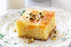 Combine canned apricots and some nifty staples to create this dazzling dessert cake.