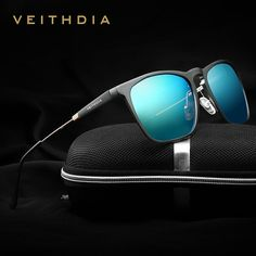 5ddb620b32e VEITHDIA Mens Square Retro Aluminum Sunglasses Polarized Blue Lens Vintage  Eyewear Accessories Sun Glasses For Men