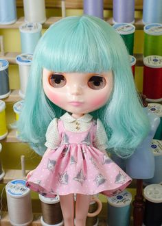 Dress for Blythe Doll by PlasticFashion on Etsy, $45.00