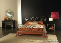 awesome Elegant Bedrooms with Wrought Iron Bed Designs