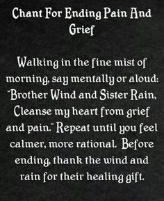 Ending pain and grief