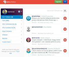 viewing followers on justunfollow Instagram Accounts, Followers, Wellness, Social Media, App, Tools, Marketing, Instruments, Apps