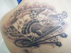 Oriental Fan Tattoos And Designs-Oriental Fan Tattoo Meanings And Ideas-Oriental Fan Tattoo Pictures