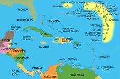 Venezuela, Panama, Costa Rica, Belize, Mexico, Jamaica, Cayman Islands, Bahamas, Dominican Republic, Puerto Rico, V.I.,..