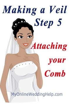 How to Make a Wedding Veil; Video and Written Instructions - My Online Wedding Help Wedding Veils, Wedding Bride, Diy Wedding, Bridal Veils, Wedding Prayer, Bridal Headbands, Wedding Dresses, Wedding Garters, Wedding Shit