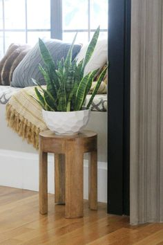 Cute side table for plant stand