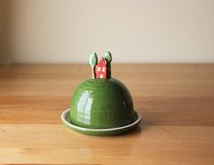 Ceramic House on a Hill Butter Dish - Cute, whimsical pottery, handmade in Montreal, Canada! Handmade kitchen accessories, housewarming gift by Beardbangs on Etsy https://www.etsy.com/listing/203009094/ceramic-house-on-a-hill-butter-dish-cute