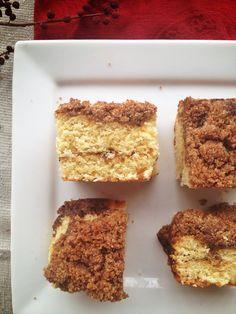 Coffee cake - gluten free, sugar free, dairy free, caffeine free (omit the coffee), and solanine free (use cornstarch instead of potato starch)