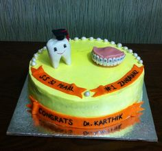 Cake went out to a dentist