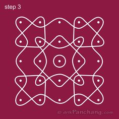 5x5 Dot Rangoli Step 3