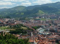 Vista de Bilbao desde el Funicular