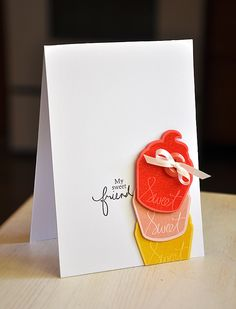 My Sweet Friend Card by Maile Belles for Papertrey Ink (July 2012)