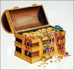 Treasure Chest (Original) art by Edward Mortelmans at The Illustration Art Gallery Edward Mortelmans