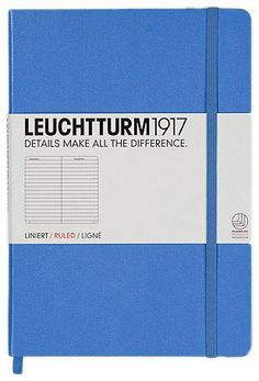 Cornflower blue A5 ruled notebook by Leuchtturm1917! Makes me think of Ibiza!