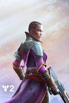 View an image titled 'Ikora Art' in our Destiny 2 art gallery featuring official character designs, concept art, and promo pictures. Destiny Comic, Destiny Game, My Destiny, Cosplay Characters, Sci Fi Characters, Cyberpunk, Destiny Bungie, Dark Galaxy, Armor Clothing