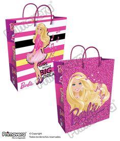 Bolsa Regalo Barbie http://envoltura.papelesprimavera.com/product/bolsa-regalo-personajes-barbie/