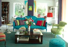 Great colours for a family room..