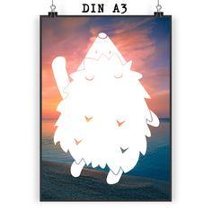 Poster DIN A3 Igel am Ballon aus Papier 160 Gramm  weiß - Das Original von Mr. & Mrs. Panda.  Jedes wunderschöne Motiv auf unseren Postern aus dem Hause Mr. & Mrs. Panda wird mit viel Liebe von Mrs. Panda handgezeichnet und entworfen.  Unsere Poster werden mit sehr hochwertigen Tinten gedruckt und sind 40 Jahre UV-Lichtbeständig und auch für Kinderzimmer absolut unbedenklich. Dein Poster wird sicher verpackt per Post geliefert.    Über unser Motiv Igel am Ballon  Dieser niedliche Igel im…