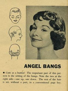 Vintage Hairstyles With Bangs tight laced dream — Pin Curl Setting Patterns, 1958 - 1940s Hairstyles Short, Fringe Hairstyles, Hairstyles With Bangs, Updo Hairstyle, Wedding Hairstyles, Stylish Hairstyles, Wedding Updo, Medium Hair Styles, Short Hair Styles