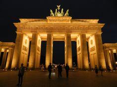 Brandenburger Tor à noite, Berlin, Berlim, Europa, Europe, Europa Central, Central Europe, architecture, arquitetura