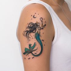 Sereia Tattoo @robcarvalhoart - Mermaid | Ilustração | Desenho | Ilustrador | Tatuagem | Aquarela | Cabelo |