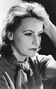 "Greta Garbo in a publicity photo for ""Ninotchka"", 1939."
