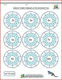 multiplication worksheets printable circle times tables 2 to 10 2 2nd Grade Worksheets, Tracing Worksheets, 2nd Grade Math, Worksheets For Kids, Grade 2, Times Tables Test, Times Tables Practice, Times Tables Worksheets, Multiplication Activities