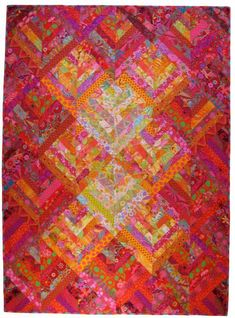 "Candy Sticks by Allison Quilt Designs I love the luminous quality; would like to try this in a single color family version of a ""strips that sizzle"" (Margaret Miller) quilt."