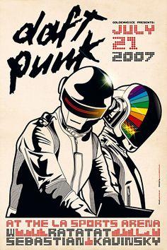 Daft Punk / RATATA / SEBASTIAN / KAVINSKY, LA Sports Arean (2007) #WOWmusic