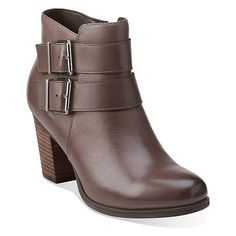 Womens Boots Clarks Palma Rena Taupe Leather