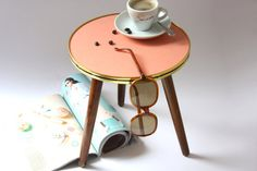 1 small coffee table / round plant stand / by wohnraumformer, £70.10