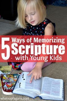 Learning and memorizing Scripture doesn't have to be hard for preschoolers and young kids. Here's 5 different methods of memorizing Scripture with your kids