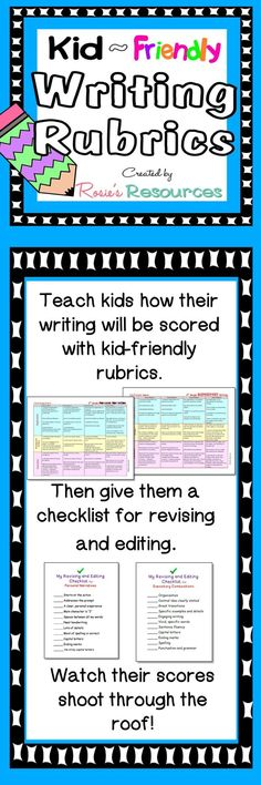 kid friendly writing rubric Henrico county writing rubric 3rd grade kid friendly narrative for first based on common core standard if you like this freebie please check out my 1000 ideas about.