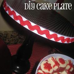 DIY Cake plate made from Dollar Store stove covers... LOVE!