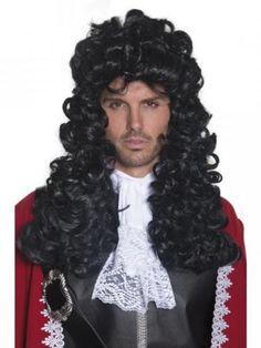 Peluca Capitán Garfio.  Piratan wigs.