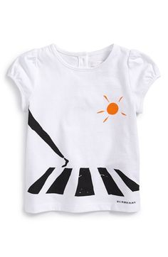 Burberry 'Zebra Crossing' Graphic Tee (Baby Girls & Toddler Girls) available at #Nordstrom