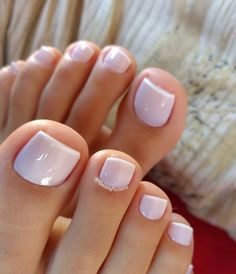 her toes are beautiful!! Nude Nails, Pink Toe Nails, White Toenails, Cute Toe Nails, White Toes, Sexy Nails, Gel Toe Nails, Fancy Nails, Light Pink Nails
