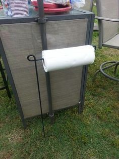 Use a Flag Holder to hold your Paper Towels while Camping.these are the BEST C. - Use a Flag Holder to hold your Paper Towels while Camping…these are the BEST Camping Ideas, Gear, -